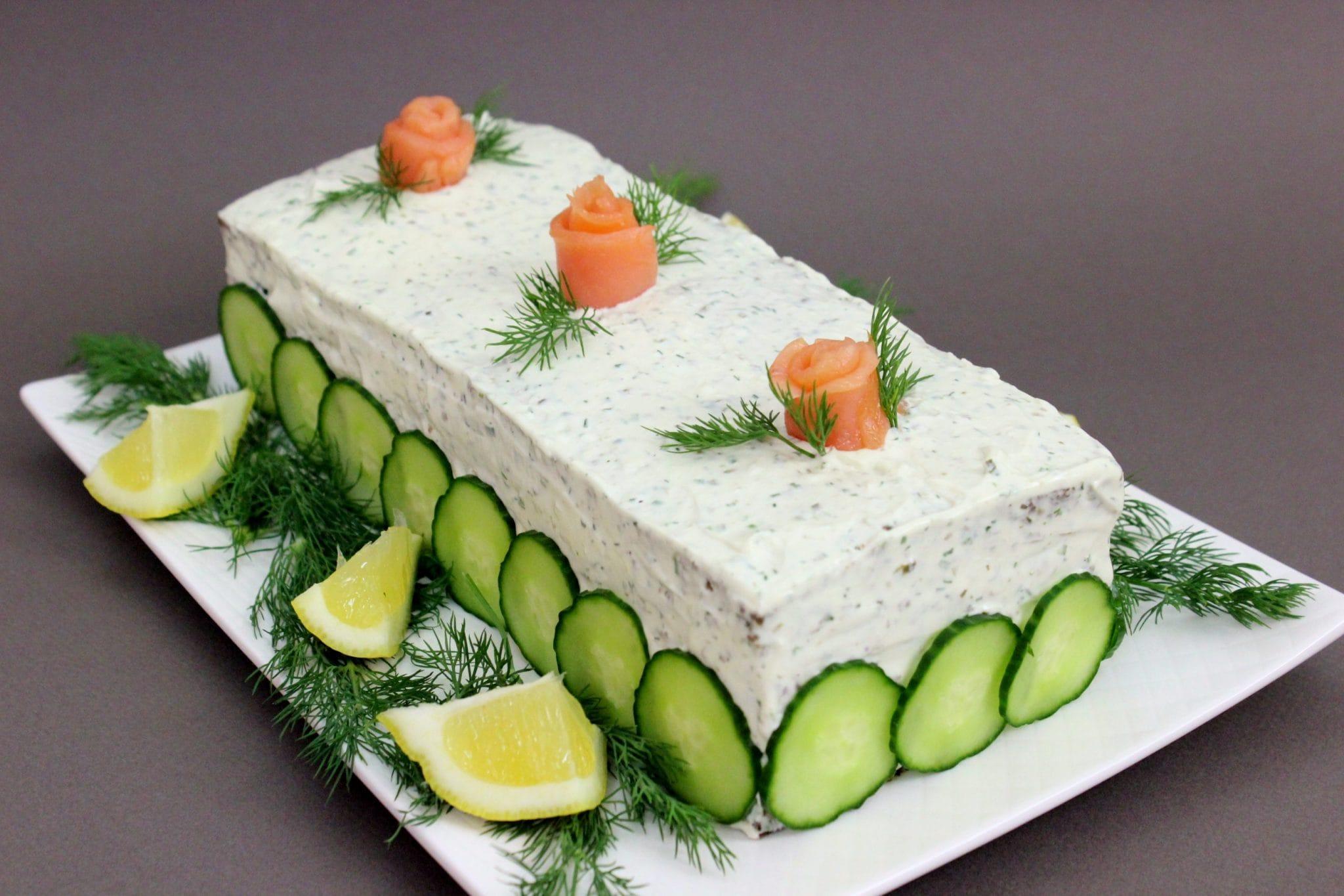 Smoked Salmon Cake - Olga's Flavor Factory