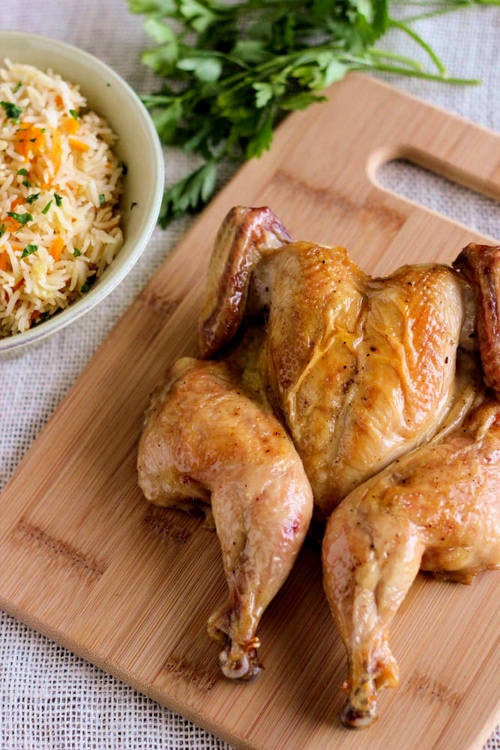 Roast Chicken and Rice Pilaf-1