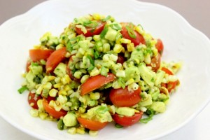 Tomato, Roasted Corn and Avocado Salad (550x367) (2)