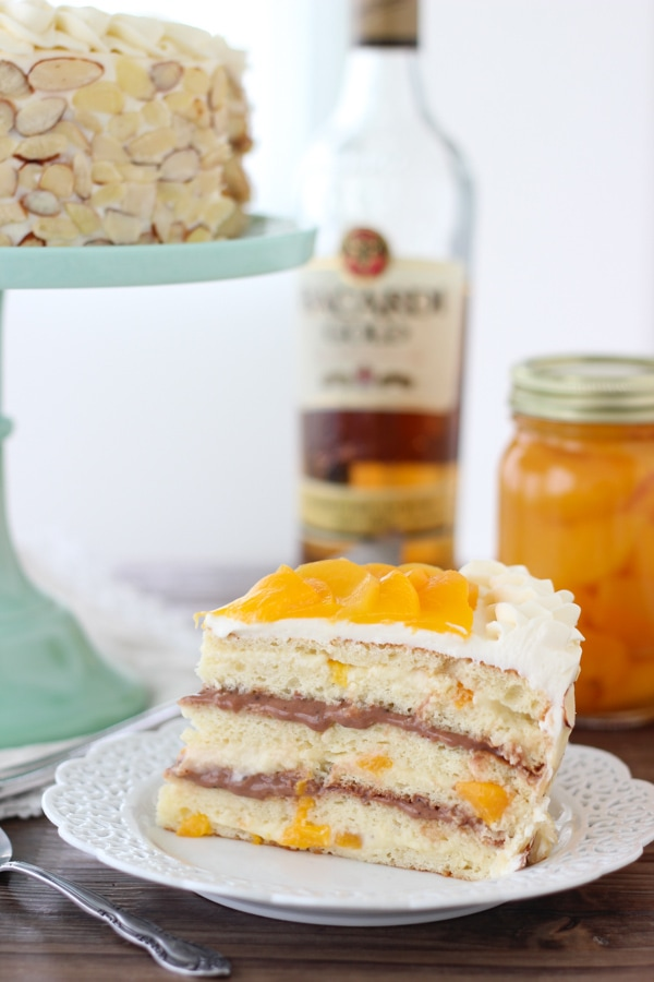 Italian Rum and Peaches Cake -6