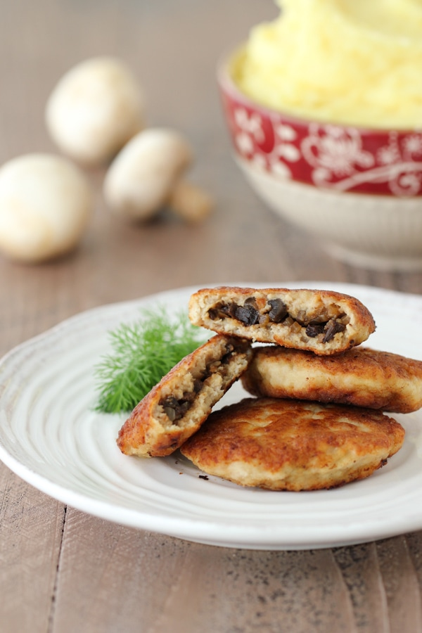 Chicken Kotleti With Mushrooms-13