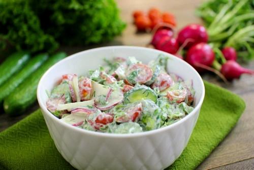 Creamy Spring Garden Salad