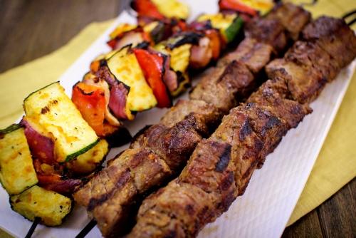 Grilled Beef and Vegetable Kebabs