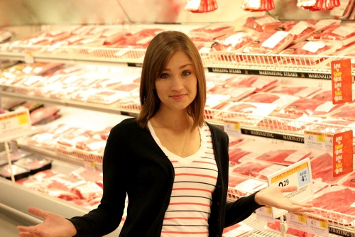 At the meat department