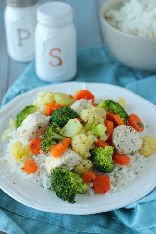 Steamed Lemon Chicken and Rice-1-4
