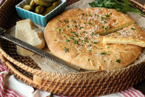 Russian Cheese Stuffed Flatbread sm1