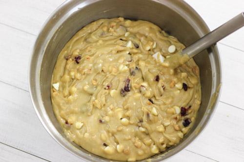 White Chocolate, Macadamia and Cranberry Blondies-1-14
