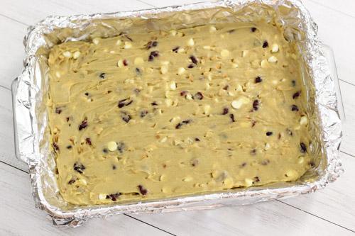 White Chocolate, Macadamia and Cranberry Blondies-1-15