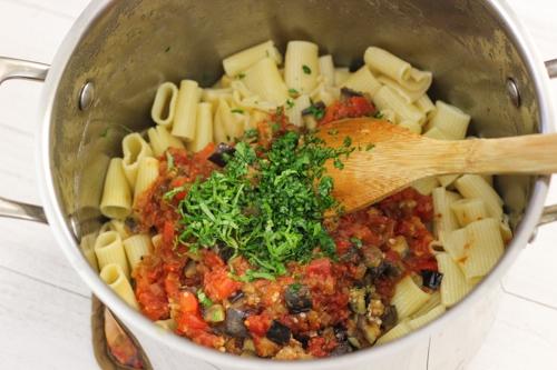 Eggplant Parmesan Pasta-1-6