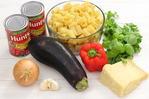 Eggplant Parmesan Pasta Ingredients2-1-4