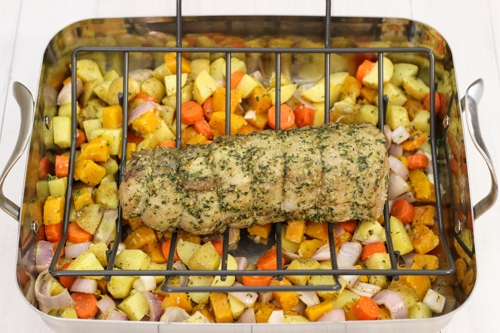 Roasted Pork Loin With Potatoes and Butternut Squash-1-39