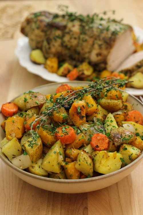 Roasted Pork Loin With Potatoes and Butternut Squash-1-49
