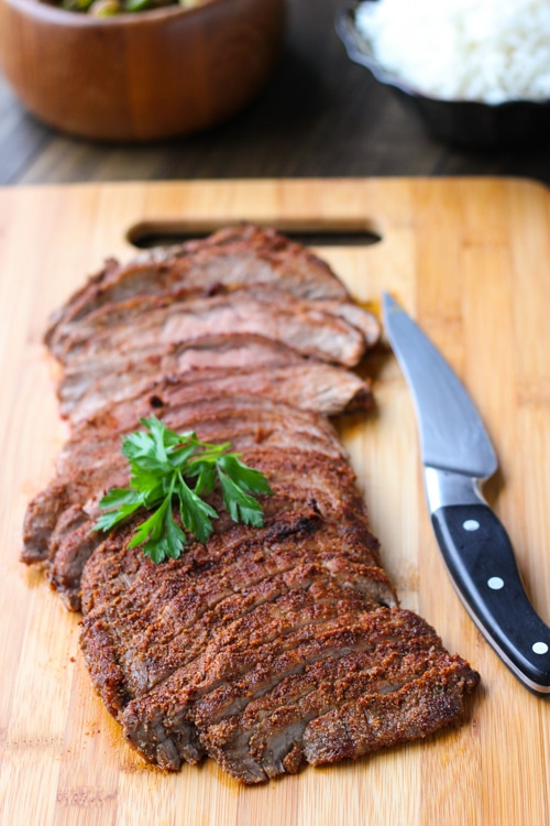 Spice Rubbed Flank Steak-1-10