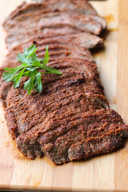 Spice Rubbed Flank Steak-1-6
