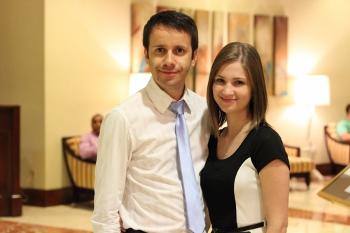 Sergi and I at a Marriage Conference this past autumn.