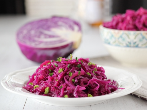 Braised Sweet and Sour Purple Cabbage-1-12