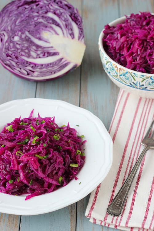 Braised Sweet and Sour Purple Cabbage-1-15