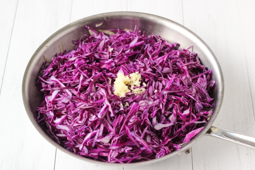 Braised Sweet and Sour Purple Cabbage-1-4
