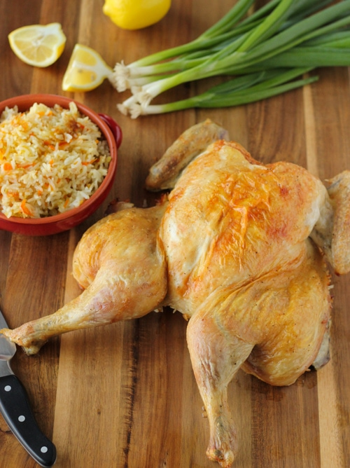 Butterflied Roast Chicken With Rice Stuffing-1-8