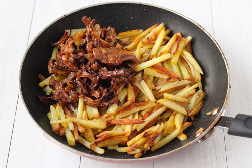 Pan Fried Potatoes and Mushrooms-1-13