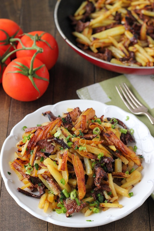 Pan Fried Potatoes and Mushrooms-1-14
