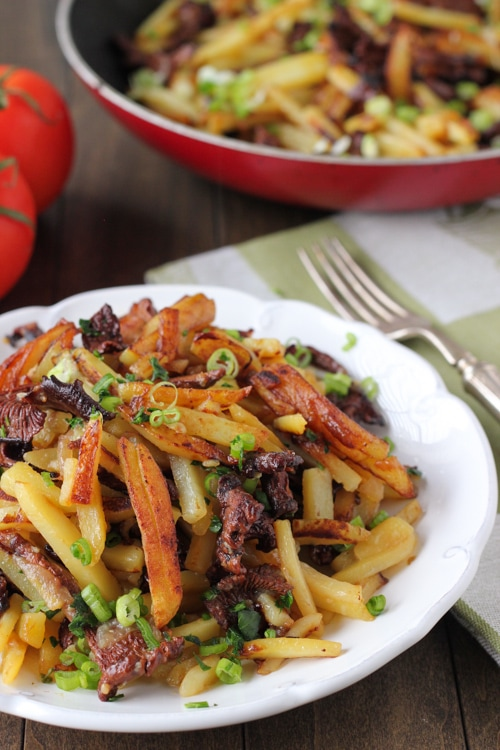 Pan Fried Potatoes and Mushrooms-1-15