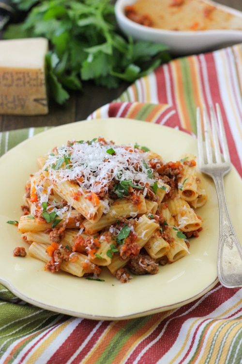 Quick Meat Sauce For Pasta-1-9