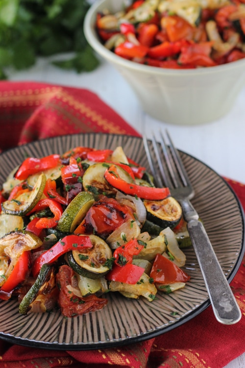 Roasted Zucchini, Tomatoes and Peppers-1-6