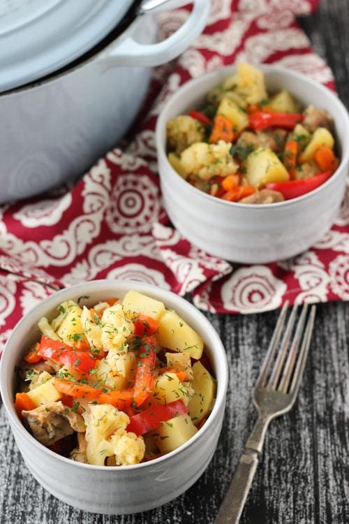 Braised Chicken With Vegetables-1-7