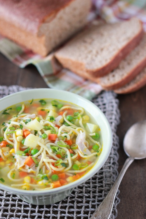 Spring Chicken and Vegetable Soup-1-2