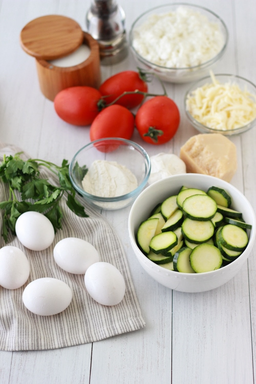 Zucchini and Tomato Frittata-1