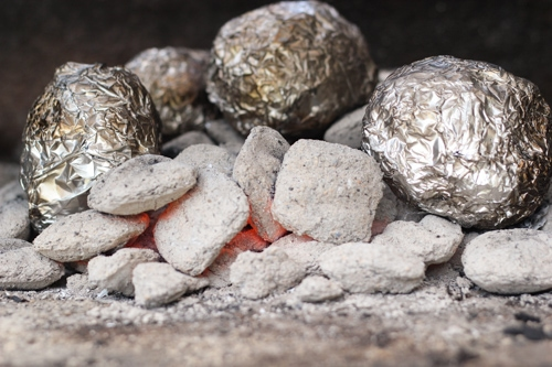 Baked Potatoes On the Grill-1-4