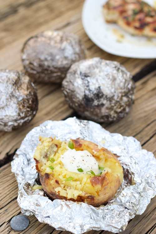 Baked Potatoes On the Grill-1-6
