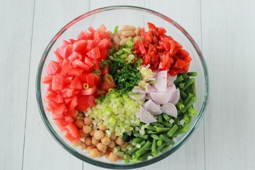 Three Bean and Tomato Salad-1-4