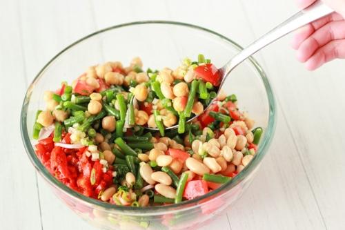 Three Bean and Tomato Salad-1-7