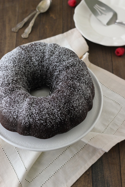 Chocolate Sour Cream Bundt Cake-1-15