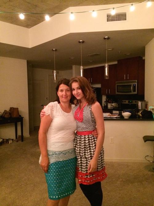 Karina with Mom