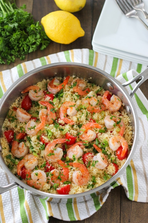 Seared Shrimp and Summer Couscous -1-10
