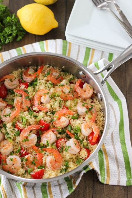 Seared Shrimp and Summer Couscous -1-13