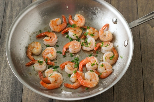 Seared Shrimp and Summer Couscous -1-7