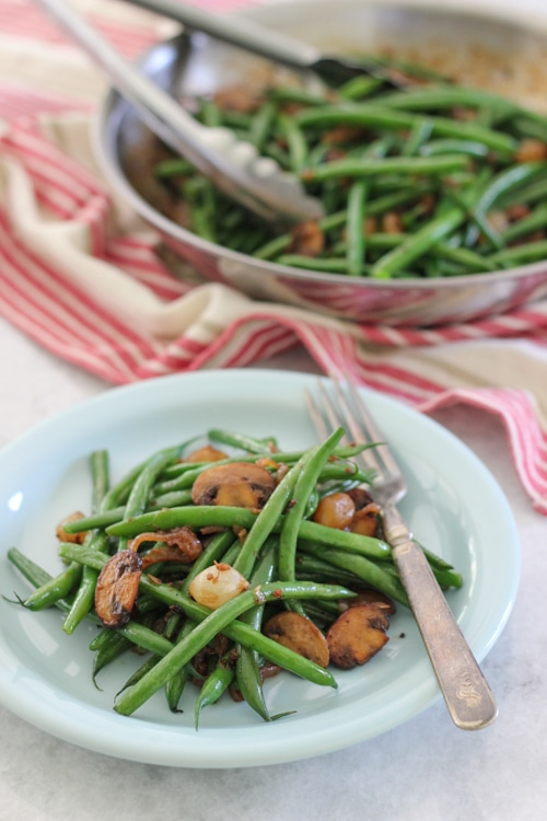 Green Beans With Mushrooms-1-10