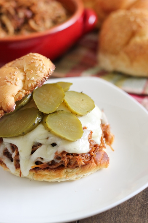 Slow Cooker BBQ Pulled Chicken-1-12