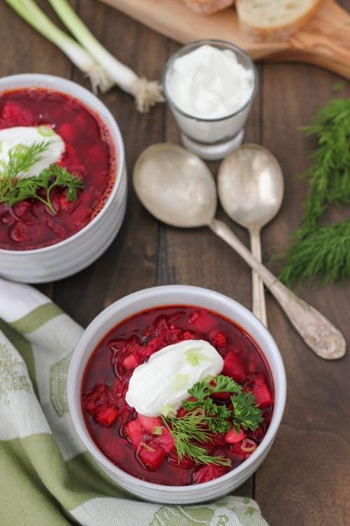 Vegetarian Borsch Olga S Flavor Factory