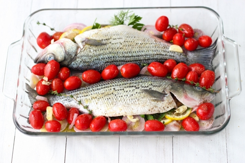 Striped Bass With Tomatoe and Herbs-1-5