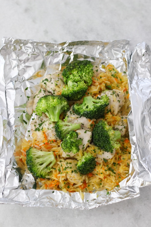 Chicken, Broccoli and Rice Packets-1-20