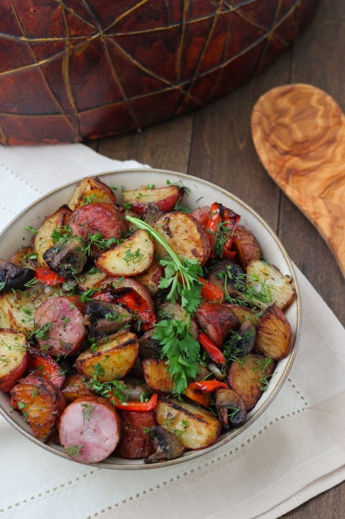 Roasted Potato, Sausage and Pepper Dinner-1-10