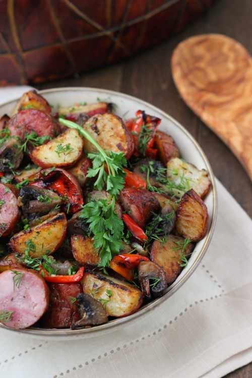 Roasted Potato, Sausage and Pepper Dinner-1-9