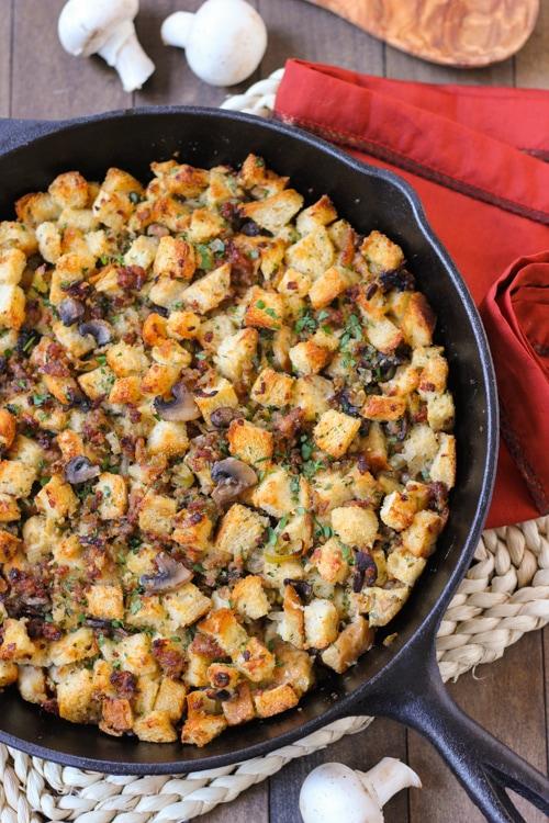 Sausage and Mushroom Sourdough Dressing-1-11