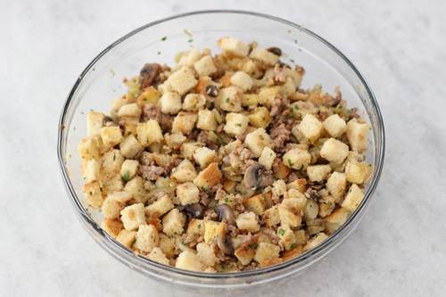 Sausage and Mushroom Sourdough Dressing-1-13