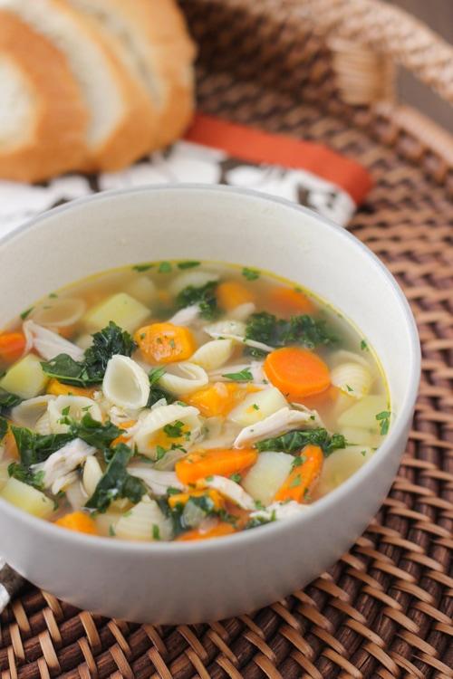 Turkey, Kale and Sweet Potato Soup-1-11